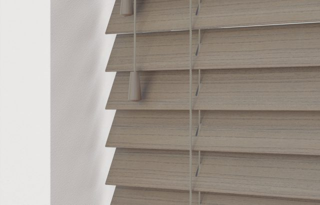 Real Wood Faux Wood Highline Blinds